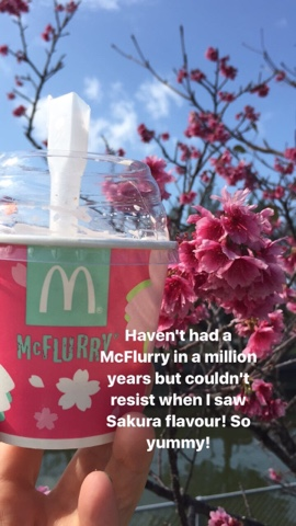 Sakura McFlurry from McDonalds Japan