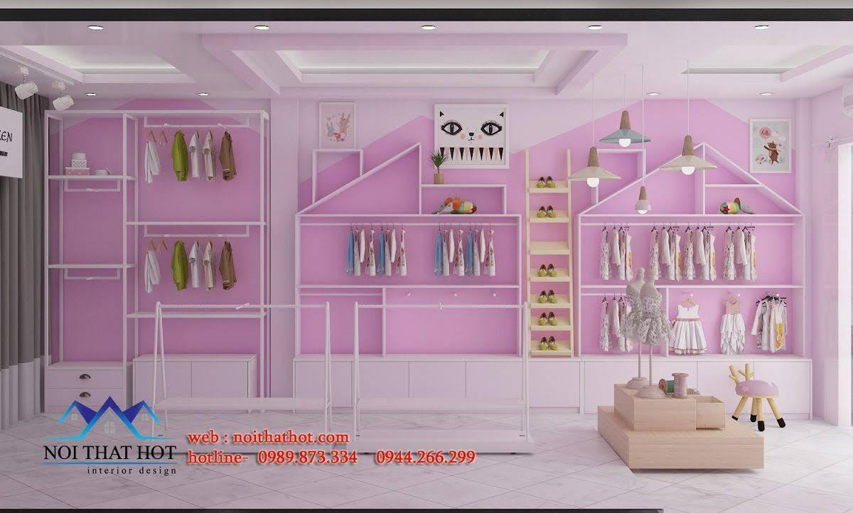 thiết kế cửa hàng trẻ em shop me ken 2