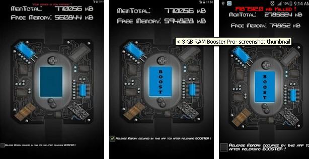 < 3 GB RAM Booster Pro v1.4