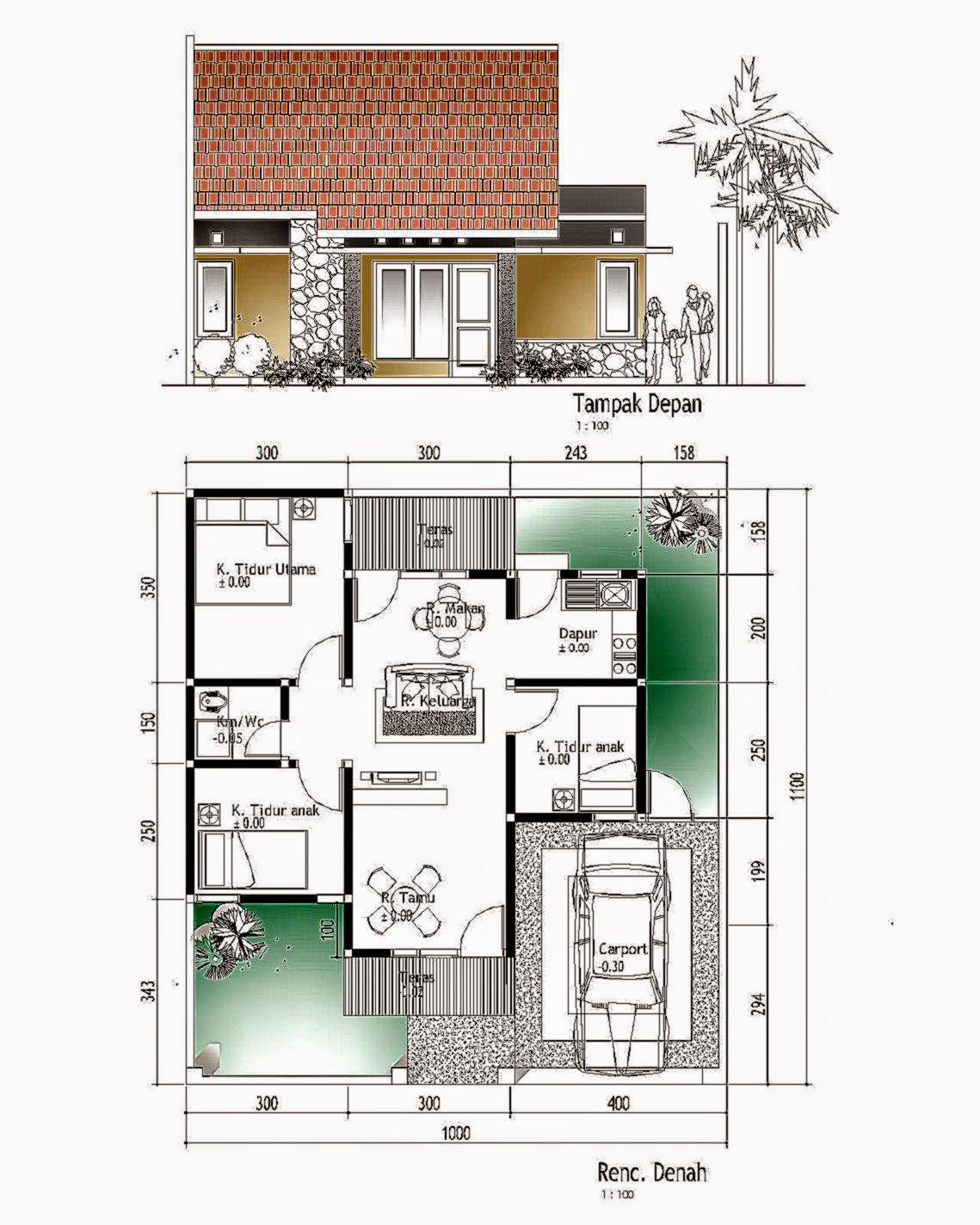 Desain Rumah Minimalis 4x8