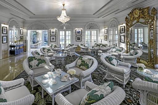 Exquisite: The Authors' Lounge for afternoon tea. Picture: SUPPLIED