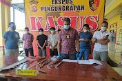 Polda Banten Ekspose, Amankan 10 Remaja Bawa Sajam Anggota Geng Motor All star