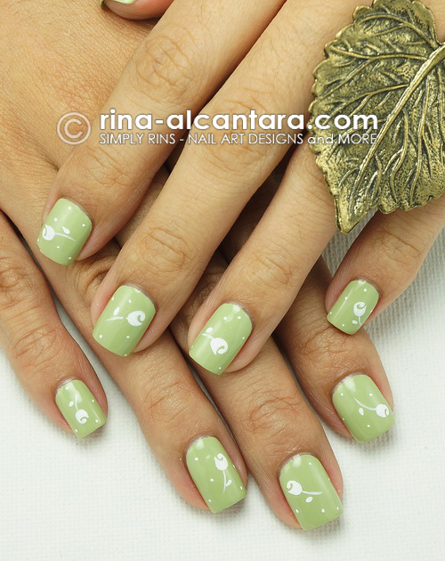 Rose Buds Nail Art Design