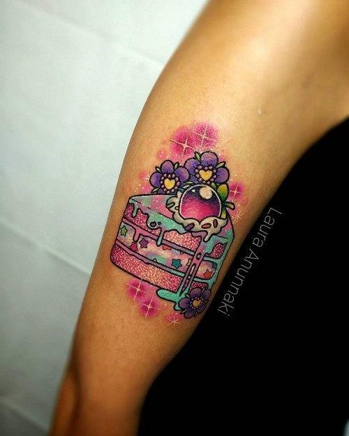 este_bolo_mgico_kawaii_tatuagem