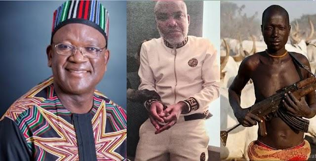 Nnamdi Kanu's Arrest: Put Same Zeal In Arrest Of Killer Herdsmen – Governor Ortom Tells FG