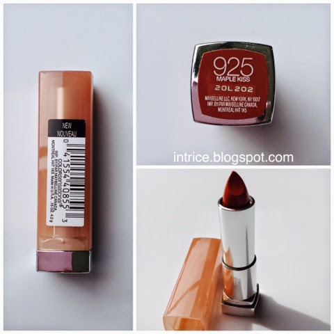 Maybelline Color Sensational Lipstick in Maple Kiss - Photo Credit: intrice.blogspot.com