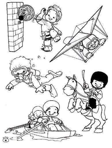 Dibujos de deportes para pintar