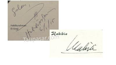 tanda tangan huruf H