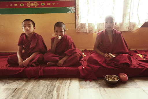 Young monks of Sera Je Monastery.