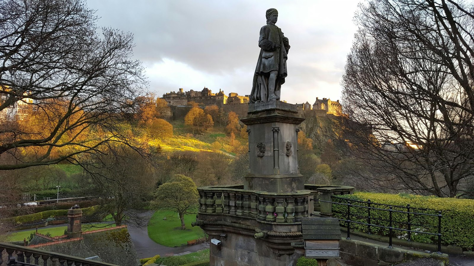 Birchtree Cottage: Princes Street Gardens in the evening sunshine