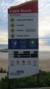 Cable Beach Sign