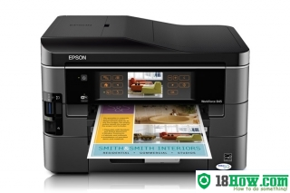 How to reset flashing lights for Epson WorkForce 845 printer