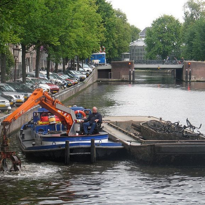 Fishing For Bicycles in Amsterdam's Canals