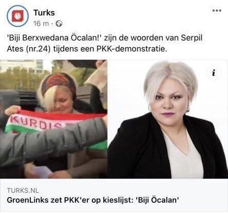 """بسبب تضامنها مع مقاومة روجآفا، مرشحة اليسار الأخضر الهولندي تتعرض للتهديد من قبل """" الذئاب الرمادية """""""
