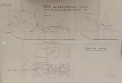 Проект ковшового углубителя.(Из материалов Эстонского государственного архива)