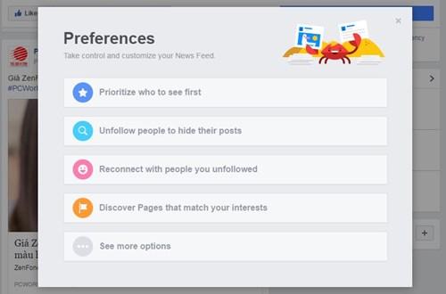 Thủ thuật Facebook: Tùy biến thông tin trên News Feed