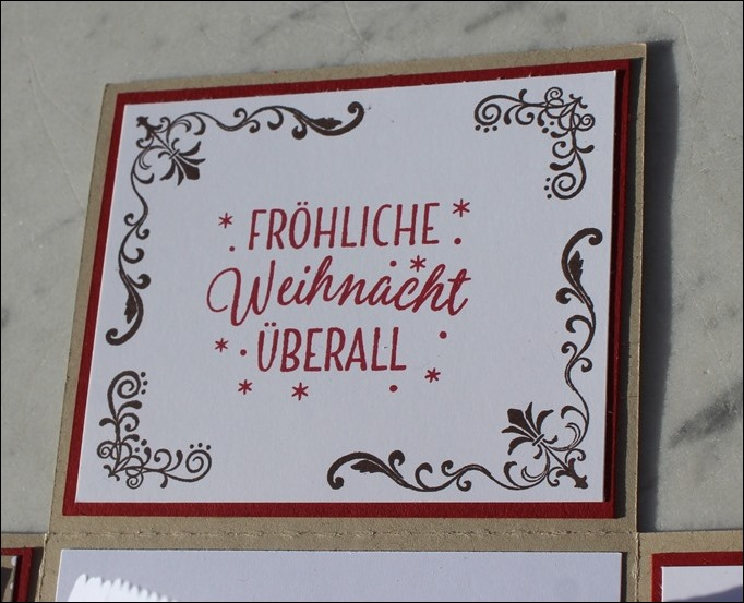 Explosion Box Weihnachten Stampin Up Christmas Candy Cane Lebkuchenhaus Gingerbread House LED 07