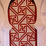 LE SVASTIKA - Monique Aubier - piécé machine et quilté main Reproduction d'un détail de la Porte de la Salle des Prières - La Grande Mosquée de Cordoue - Espagne