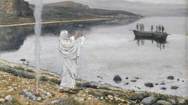 Đức Giêsu đứng trên bờ biển