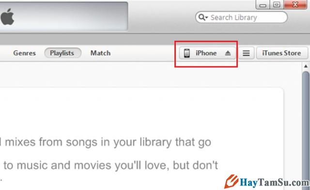 bấm vào thiết bị iPhone, iPad