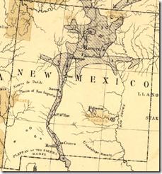 新墨西哥的细节从弗朗西斯A.沃克的'S 1870美国人口密度图。