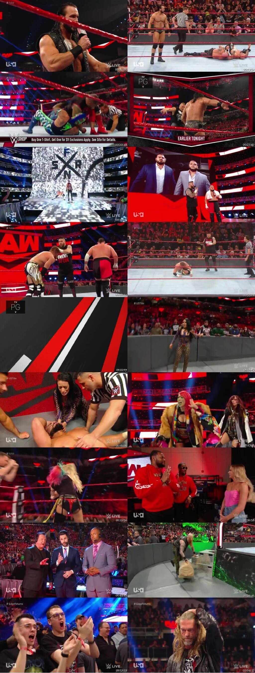 Screen Shot Of Wrestling TV Show WWE Monday Night Raw 27th January Watch Online Free Download