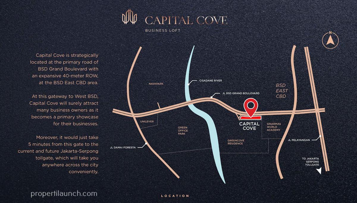 Peta Lokasi Capital Cove BSD