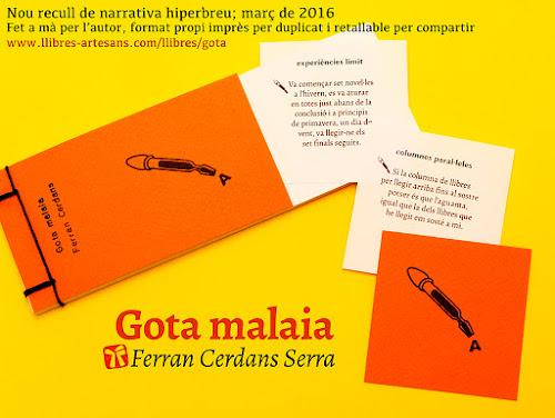 Llibre retallable Gota malaia de Ferran Cerdans