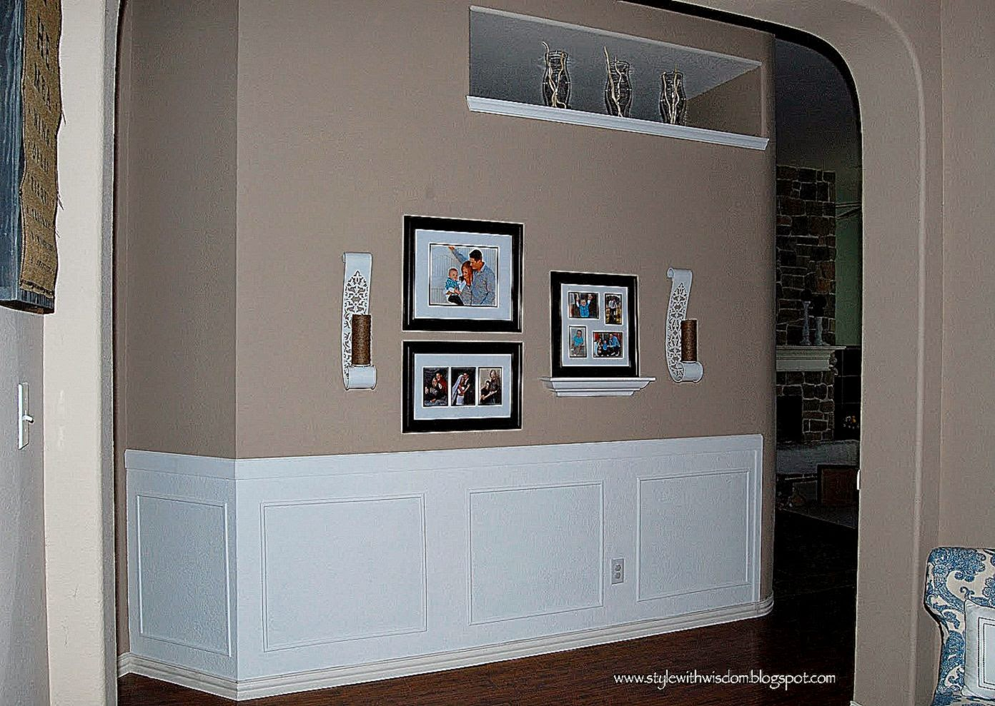 House Ideas Style With Wisdom The Hallway Is Finished Chair Rail