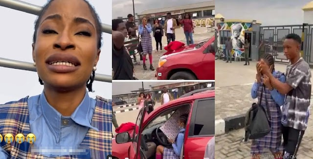 Young Boy Breaks Up With JSS1 Girlfriend Days After Buying Her A Car (Video)