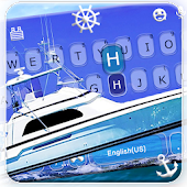 Blue Sea Boat Keyboard Theme Android APK Download Free By Fancy Keyboard For Android Apps
