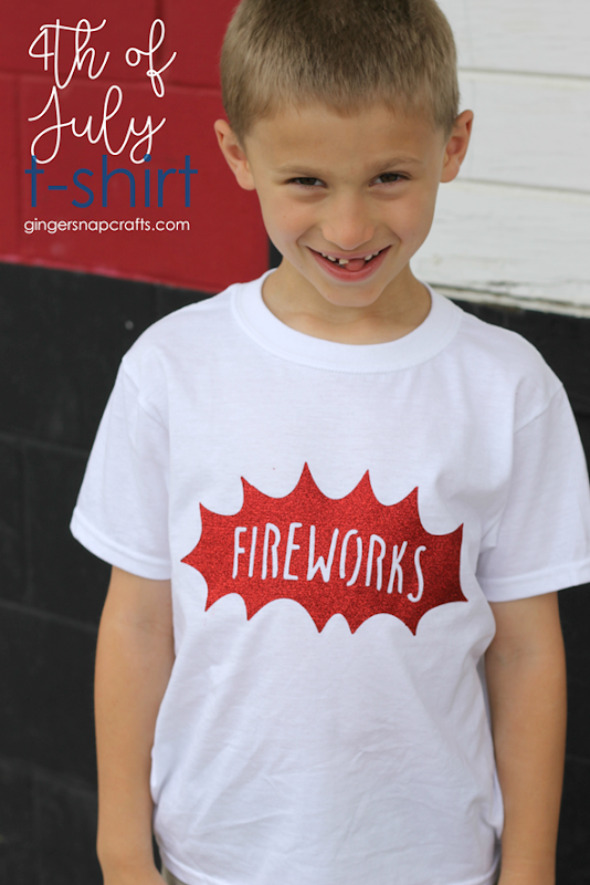 4th of July T-Shirt at GingerSnapCrafts.com