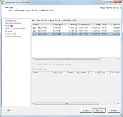 Añadir disco duro y datastore a servidor VMware ESXi