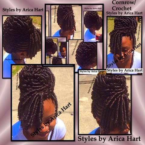Crochet Braids Elegance : Cornrow - crochet braid hair styles that can be worn as elegant upd ...