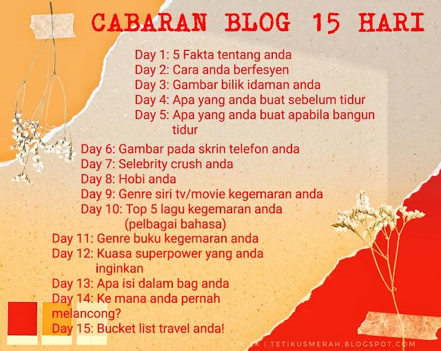 Cabaran blog 15 hari