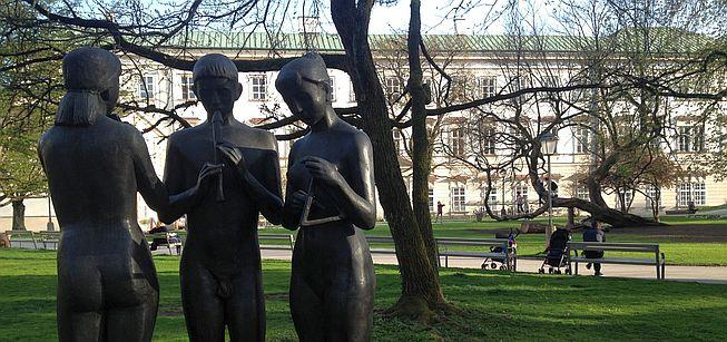 Skulpturen vor dem Schloss Mirabell, Salzburg