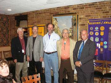 From Right to Left: Ed Simons (President), Earl Lowen (First Vice-President), Steve Palmer (Second Vice-President), Paul Lipson (Secretary), Don Horkey (Treasurer)