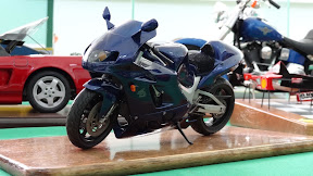 Detailed model of ninja motorcycle