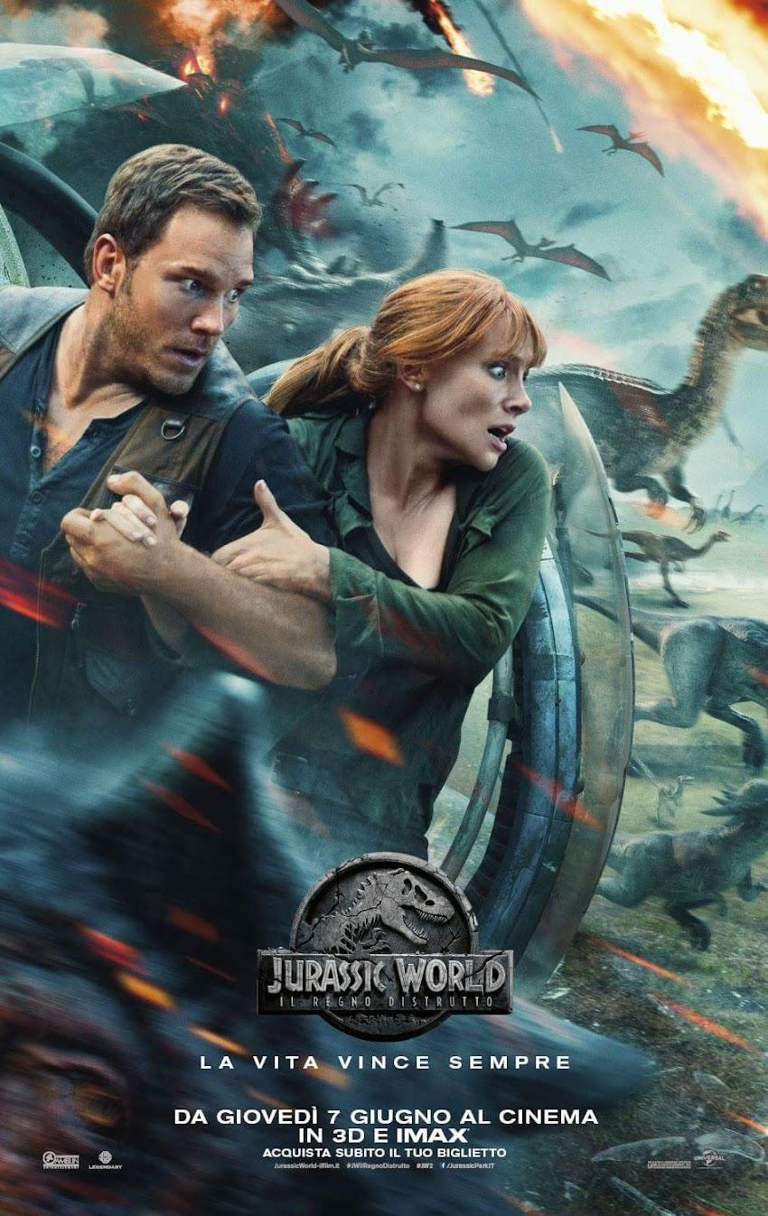 Jurassic World - Il Regno Distrutto , Ecco Il Nuovo Poster