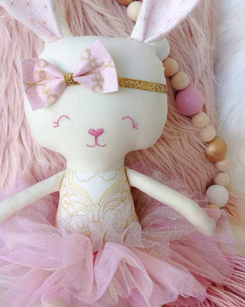 Bunny Rabbit Doll by Rhapsody and Thread