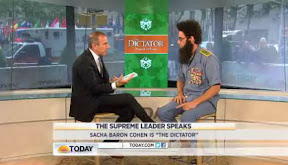 The Dictator kidnaps Matt Lauer's family