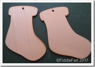 wooden christmas stocking tag blanks