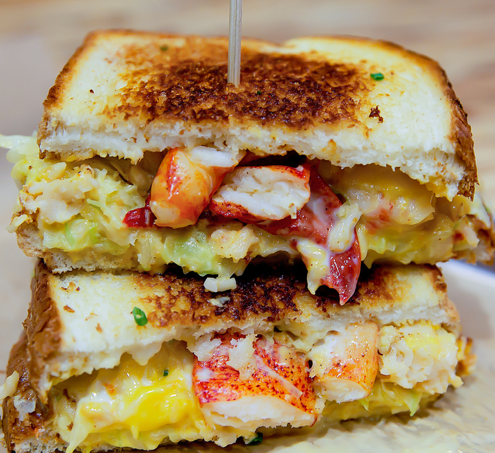 close-up photo of Clobster Grilled Cheese