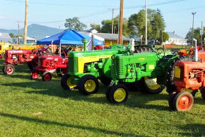 Antique tractors galore!