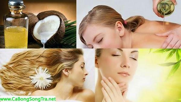 tác dụng của dầu dừa giúp tẩy da chết