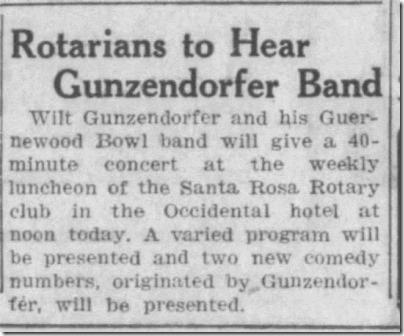 Rotarians to hear band Press Democrat Santa Rosa 6_18_1930 page 4
