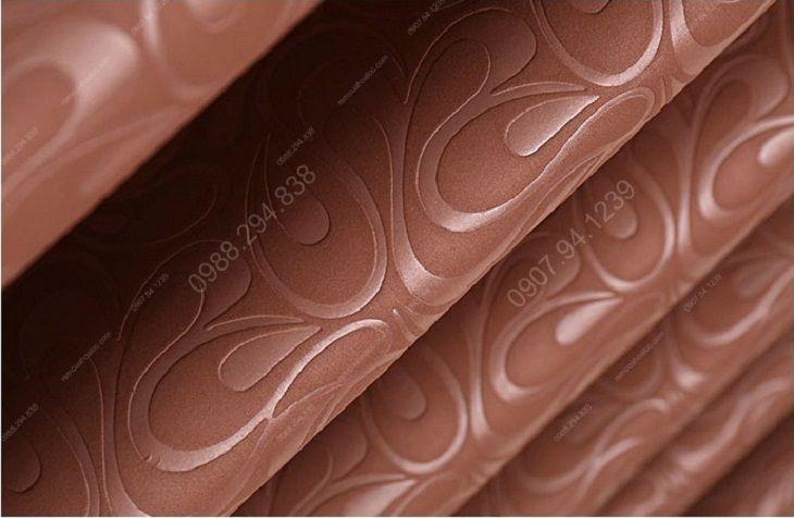 Rèm cửa cao cấp hà nội một màu socola tráng cao su 14