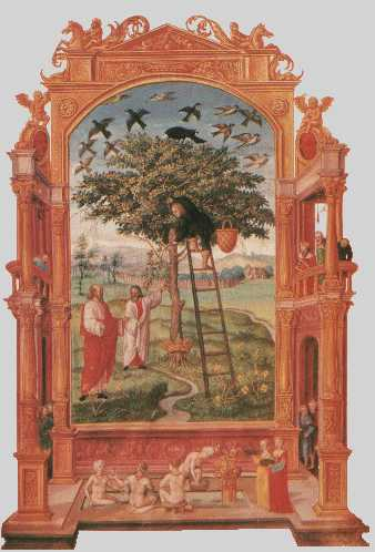 Philosophers Beside Tree From Splendor Solis, Hermetic Emblems From Manuscripts 1