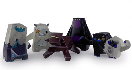 Monster Workshop Paper Toys