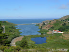 Awesome views of Rodeo Beach and Rodeo Lagoon from atop a hill along Coastal Trail